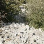 un talus à l'oppidum de la Dame