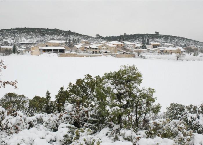 hameau de Bourdiguet sous la neige