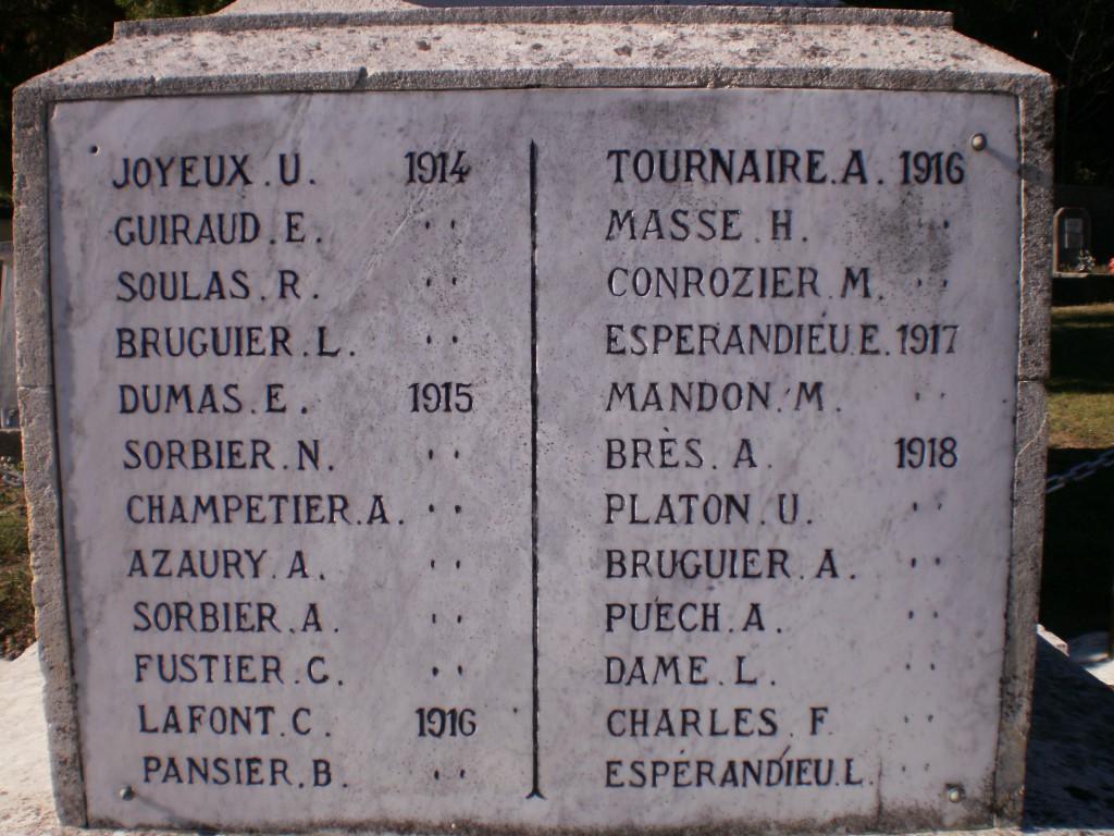 Monument aux morts Aigaliers