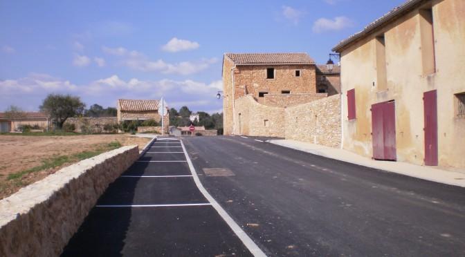 Fin  des travaux à Gattigues- La Bruyerette