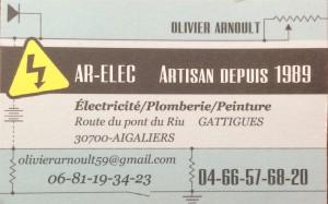 carte de visite Olivier Arnoult