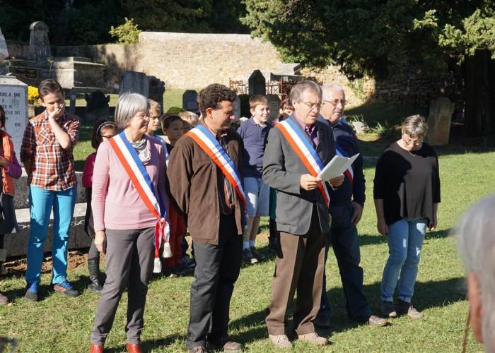 la cérémonie du 11 novembre 2015