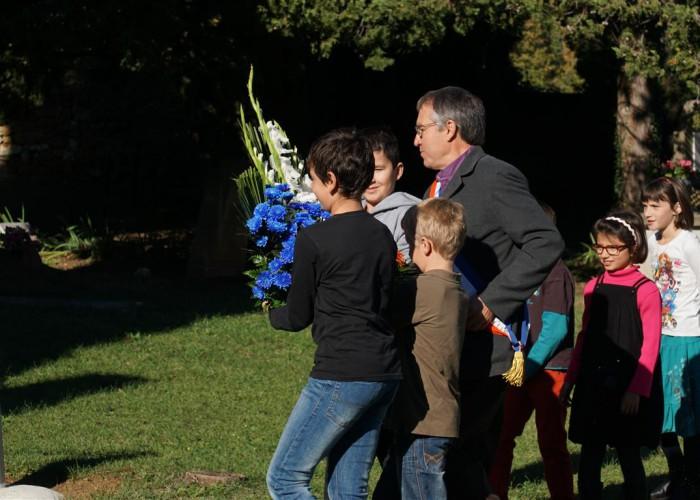 la cérémonie de souvenir du 11 novembre 2015