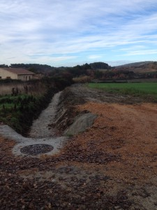 Travaux du pluvial à Foussargues 2015