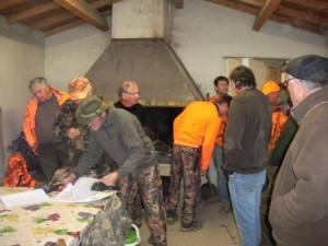 Les chasseurs en réunion