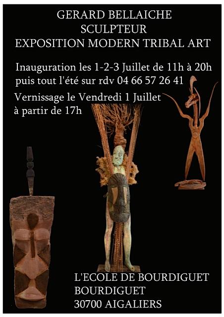 Exposition des sculptures de Gérard Bellaïche été 2016