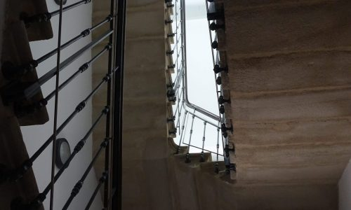 L'escalier restauré