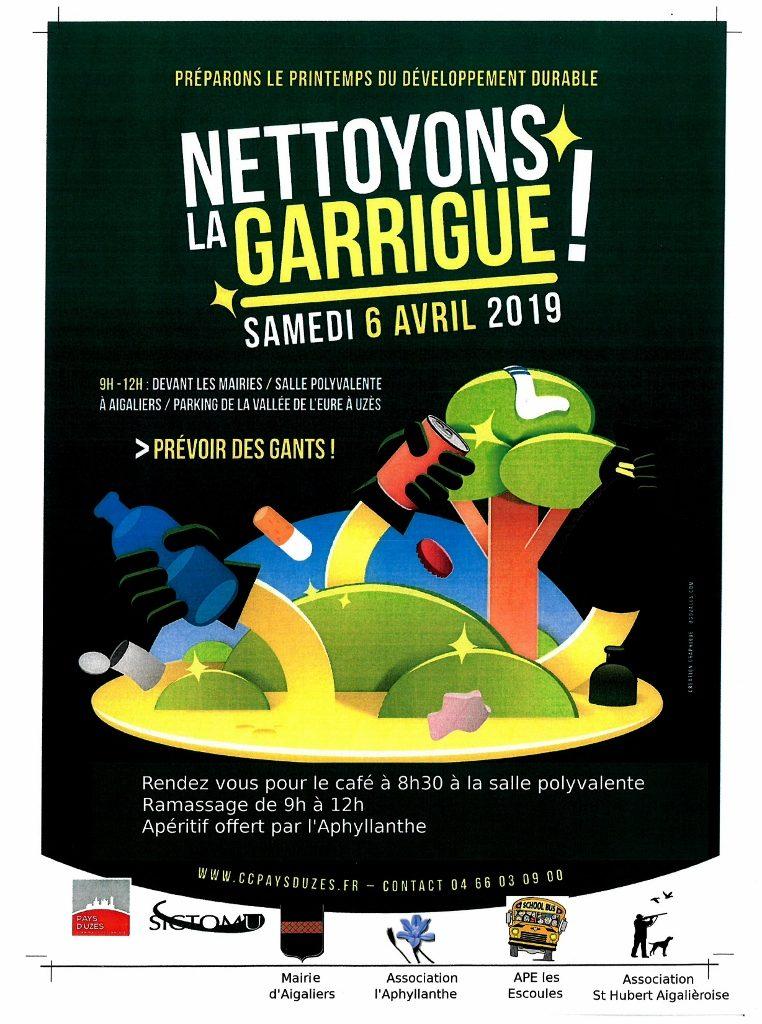 NETTOYONS LA GARRIGUE